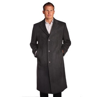 Jean Paul Germain Men's Charcoal Gray Wool/Cashmere Blend Sander Coat