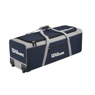Wilson Navy Catcher Bag on Wheels