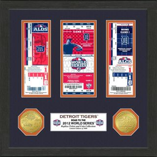 Detroit Tigers 2012 World Series Ticket and Coin Frame