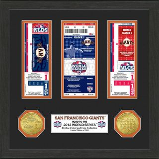 San Francisco Giants 2012 World Series Ticket and Coin Frame