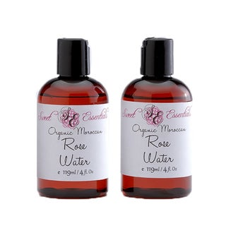 Sweet Essentials Organic Morrocan Rose Water (Pack of 2)