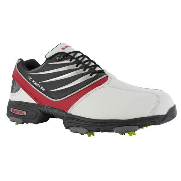 Hi-Tec CDT Power 501 White/Black/Red Golf Shoes