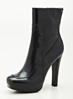 Calvin Klein Brenna Black Mid Shaft Boot