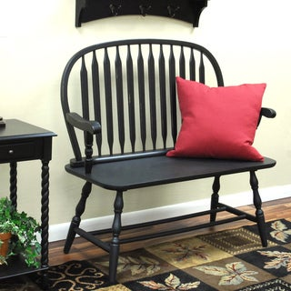 Winston Antique Black Bench