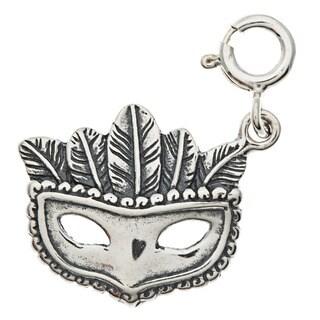 Sterling Silver Mardi Gras Mask Charm