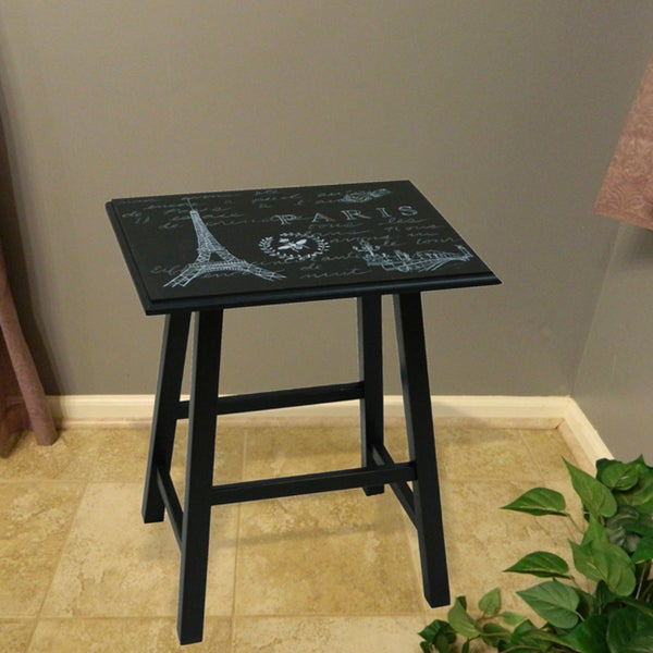 Eiffel Tower Antique Black End Table