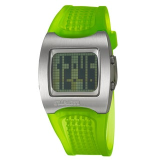 Nixon Men's Stainless-Steel 'Isis' Date Neon Yellow Watch