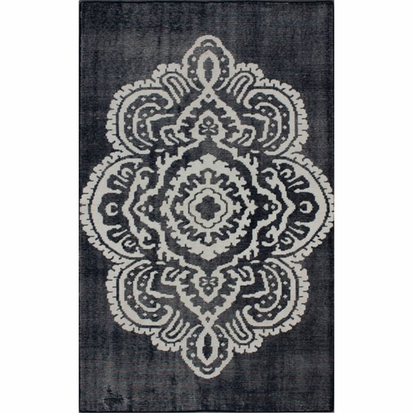 nuLOOM Hand-knotted Overdyed Medallion New Zealand Wool Rug