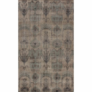 nuLOOM Hand-knotted Overdyed Ikat New Zealand Wool Rug