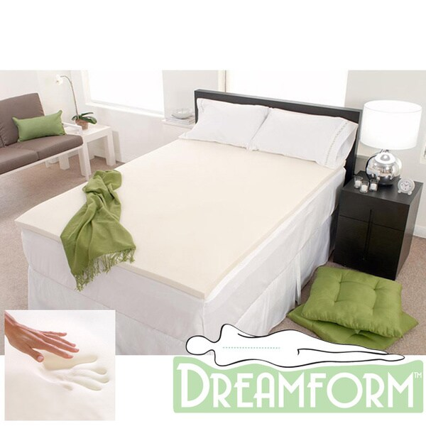 Dream Form Eco-friendly 1-inch Memory Foam Mattress Topper