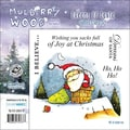 "Mullberry Wood EZMount Cling Stamp Set 4-3/4""X4-3/4""-Dreams Of Santa"