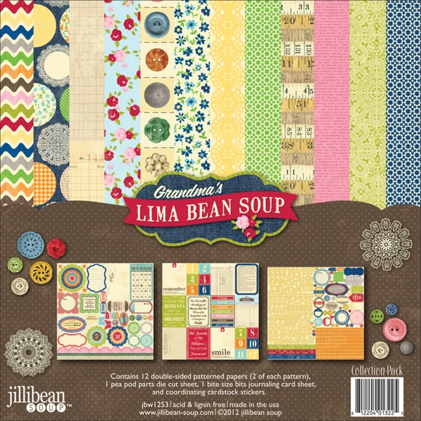 "Grandma's Lima Bean Soup Collection Pack 12""X12""-"
