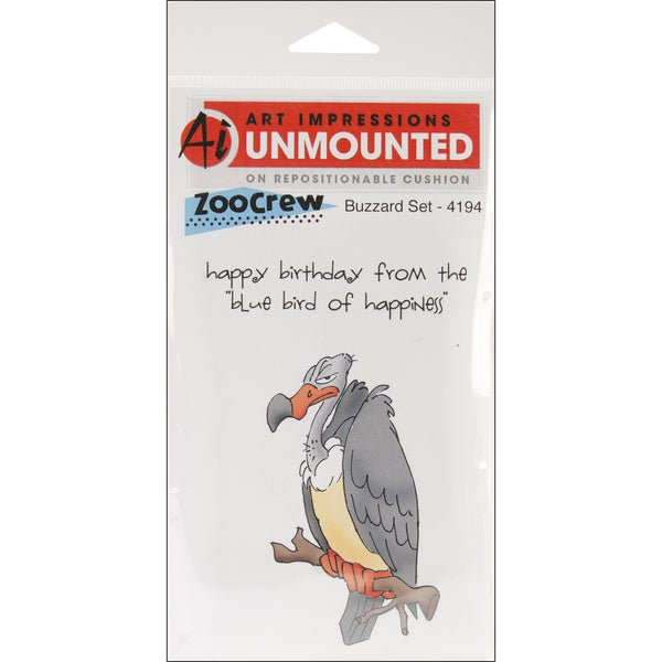 Art Impressions Zoo Crew Cling Rubber Stamp-Buzzard Set