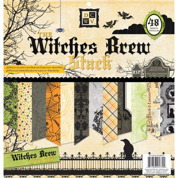 DCWV 'Witches Brew' 48-sheet Paper Stack (12x12)