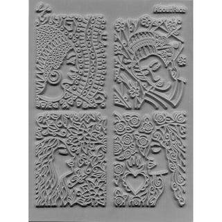 """Lisa Pavelka Individual Texture Stamp 4.25""""X5.5"""" 1/Pkg-About Face"""