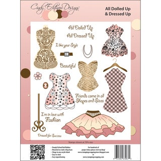 Cindy Echtinaw Designs Spellbinders Matching Rubber Stamps-All Dolled Up &amp; Dressed Up