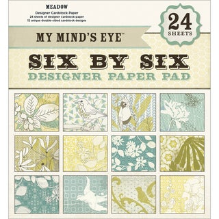 My Mind's Eye Six By Six Paper Pad 24/Sheets-Meadow