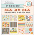 My Mind's Eye Six By Six Paper Pad 24/Sheets-Life Of The Party