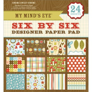 My Mind's Eye Six By Six Paper Pad 24/Sheets-Gnome Sweet Gnome