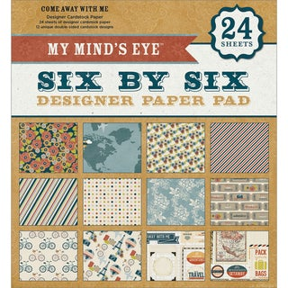 My Mind's Eye Six By Six Paper Pad 24/Sheets-Come Away With Me