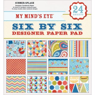 My Mind's Eye Six By Six Paper Pad 24/Sheets-Summer Splash