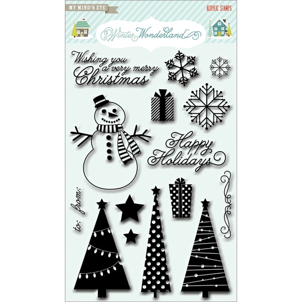 Winter Wonderland Clear Acrylic Stamps-