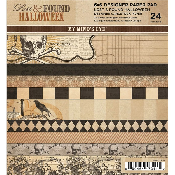 "Lost & Found Halloween Paper Pad 6""X6"" 24 Sheets-12 Double-Sided Designs/2 Each"
