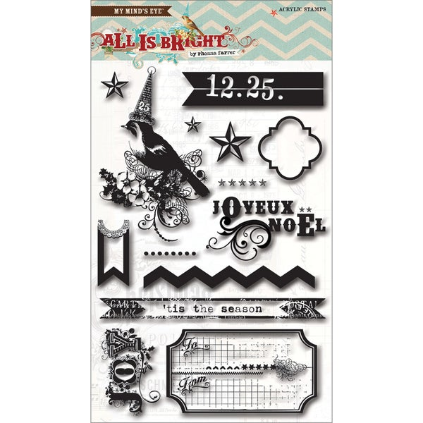 All Is Bright Clear Acrylic Stamps-
