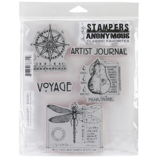 Tim Holtz Cling Rubber Stamp Set-Classics #1