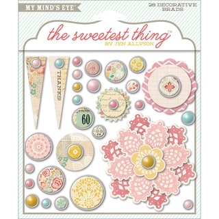 The Sweetest Thing Lavender Decorative Brads-The Best