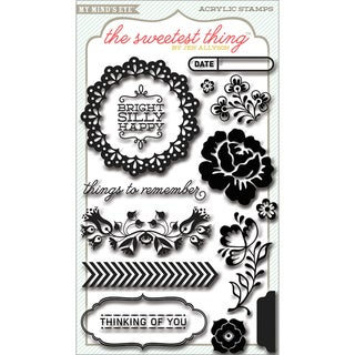 The Sweetest Thing Bluebell Clear Acrylic Stamps-Remember