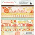 "The Sweetest Thing Tangerine Paper Pad 6""X6"" 24 Sheets-"