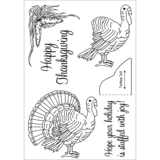 Honeypop Clear Stamp Set-Turkey