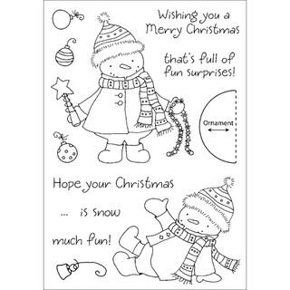 Honeypop Clear Stamp Set-Decorating Snowman