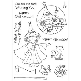 Honeypop Clear Stamp Set-Halloween Witch
