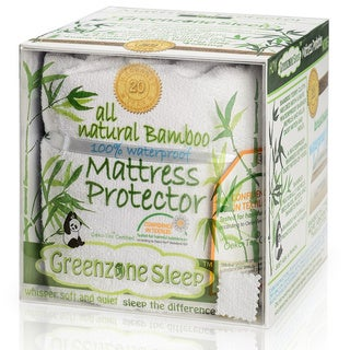 Christopher Knight Home Rayon from Bamboo Classic Design Terry Mattress Protector - White