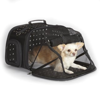 East Side Collection Ultimate Traveler Black Pet Carrier