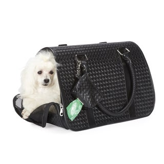Zack & Zoey Basketweave Black Small Pet Carrier