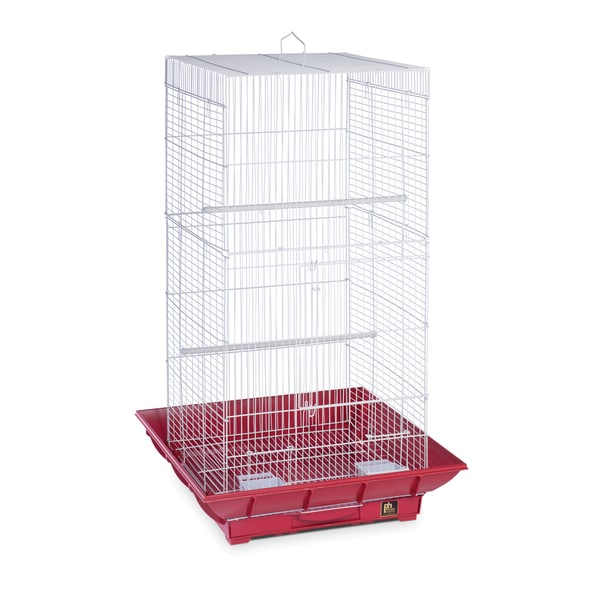Prevue Pet Products Clean Life Tall Cage Red & White SP852R/W
