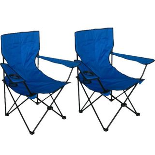 Deluxe Blue Arm Chairs (Pack of 2)