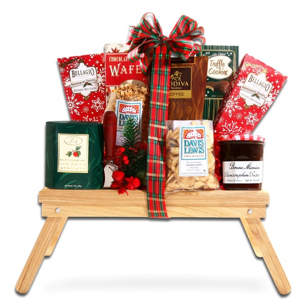 Alder Creek Gift Baskets Christmas Morning Folding Serving Tray