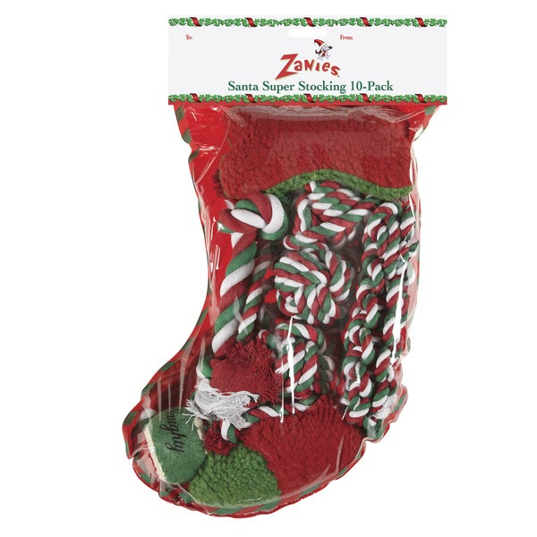 Zanies Santa's Super Dog Toy Stocking