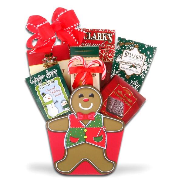 Alder Creek Gift Baskets Gingerbread Man GIft Basket