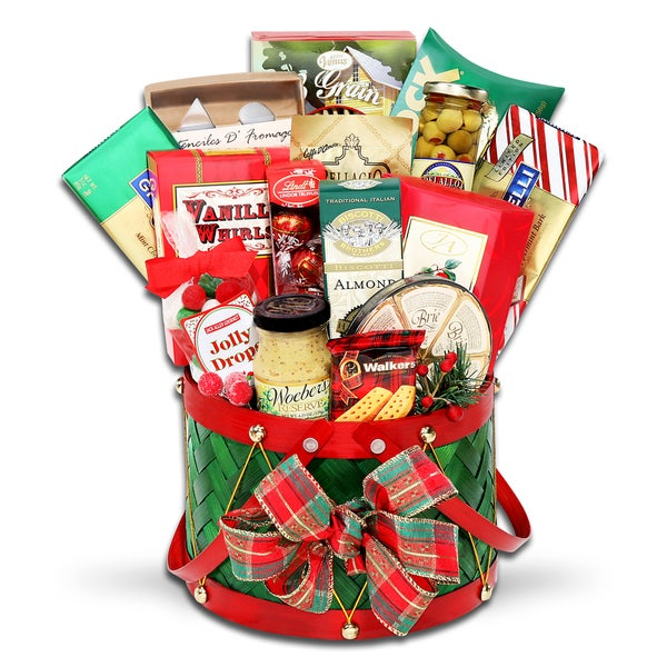 Alder Creek Gift Baskets Grand Holiday Drum Gift Basket