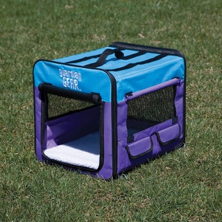 Guardian Gear Purple/ Turquoise Extra-small Collapsible Dog Crate