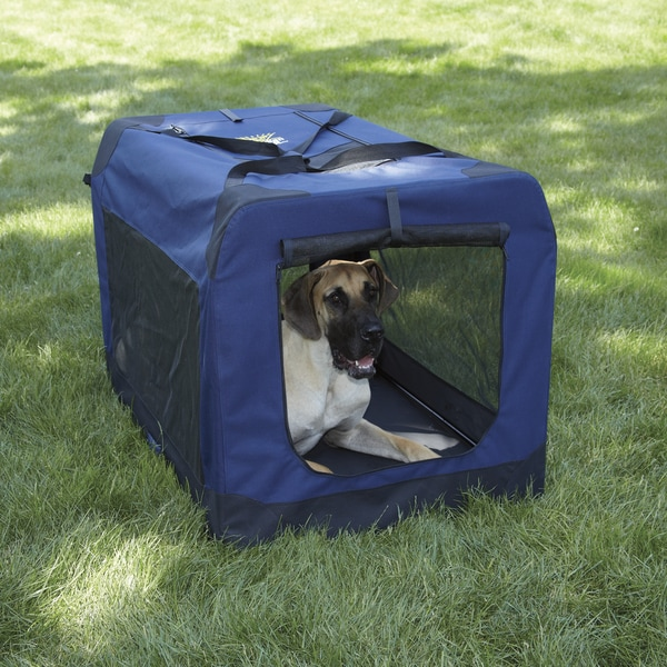 Guardian Gear Navy Extra-large Soft Crate Pet Carrier