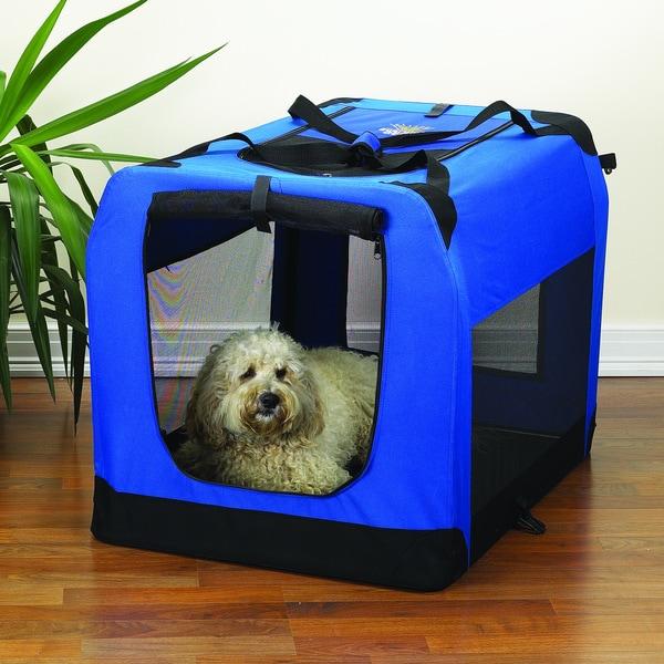 Guardian Gear Royal Blue Medium Soft Pet Crate