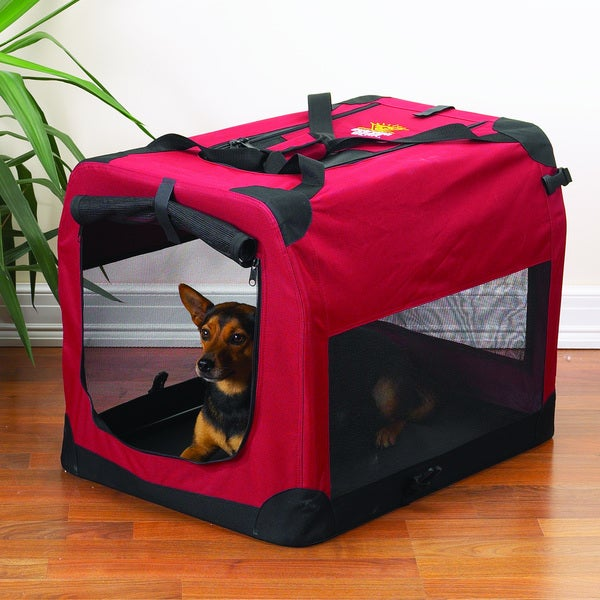 Guardian Gear Red Small Soft Pet Crate