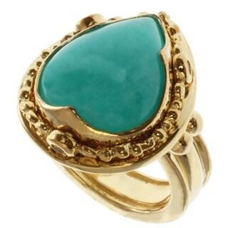 Michael Valitutti/ Zaffiro Amazonite and White Sapphire Ring