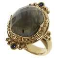 Michael Valitutti/ Zaffiro Labradorite and Blue Sapphire Ring